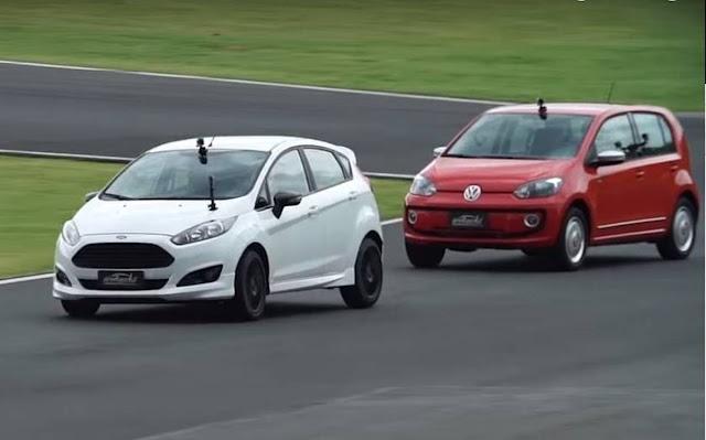 Volkswagen Up! TSI x Ford Fiesta - comparativo de desempenho