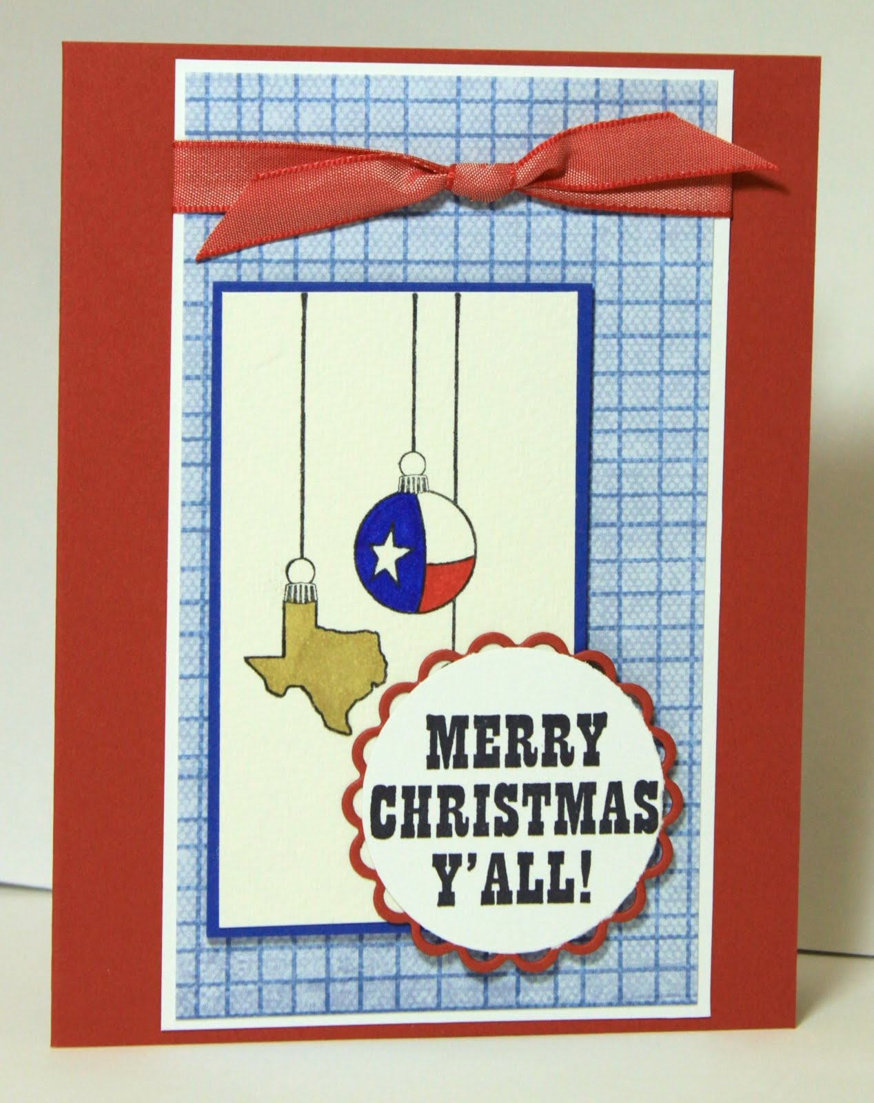 merry christmas yall patriotic texas ornaments cards