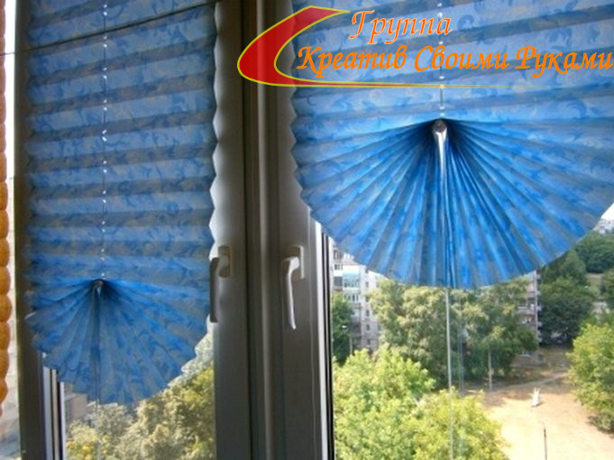 Шторки на окна из бумаги