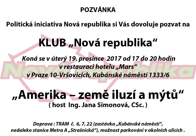 Klub NR - prosinec