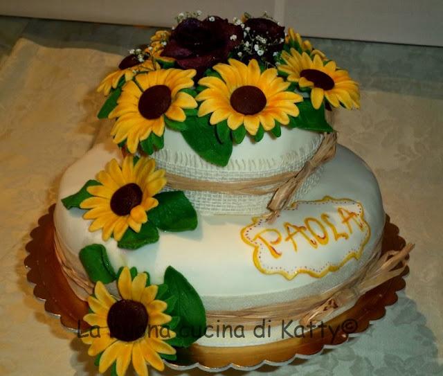 Torta Matrimonio Girasoli : La buona cucina di katty torta girasoli e rose rosse
