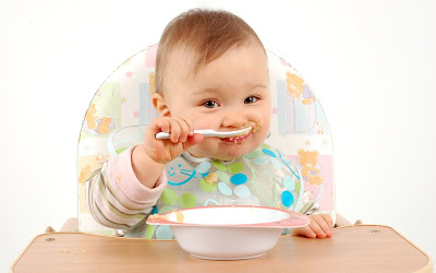 baby kid eating picture