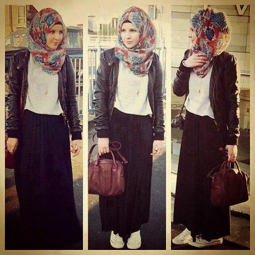 hijab moderne look moderne femme voil e hijab et voile. Black Bedroom Furniture Sets. Home Design Ideas