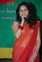 Singer Sunitha transparent saree