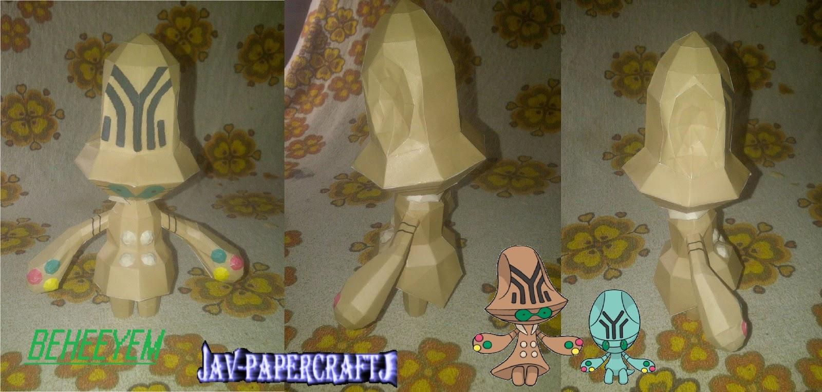 Pokemon Beheeyem Papercraft