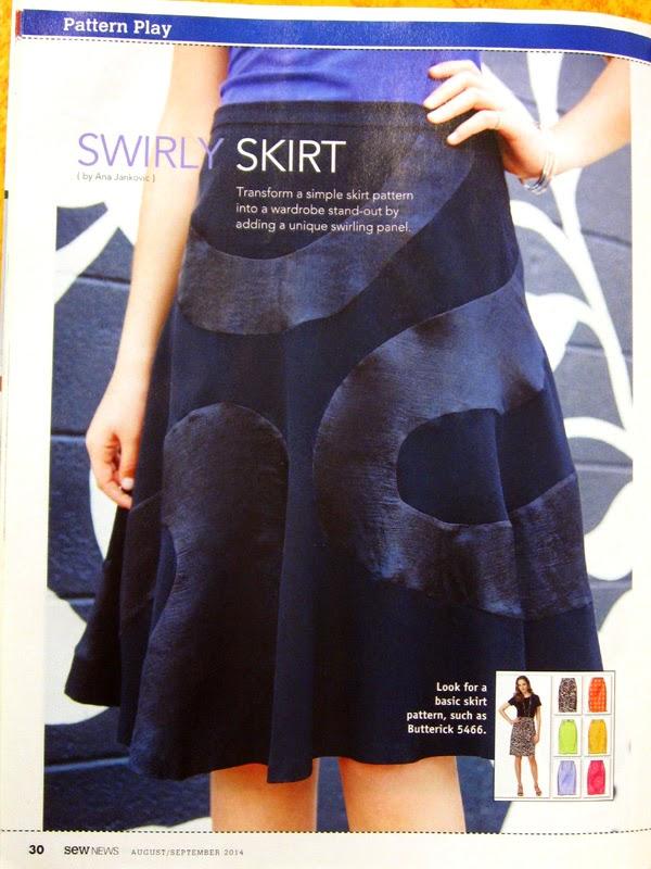 Štepalica: TR suknja u Sew News časopisu