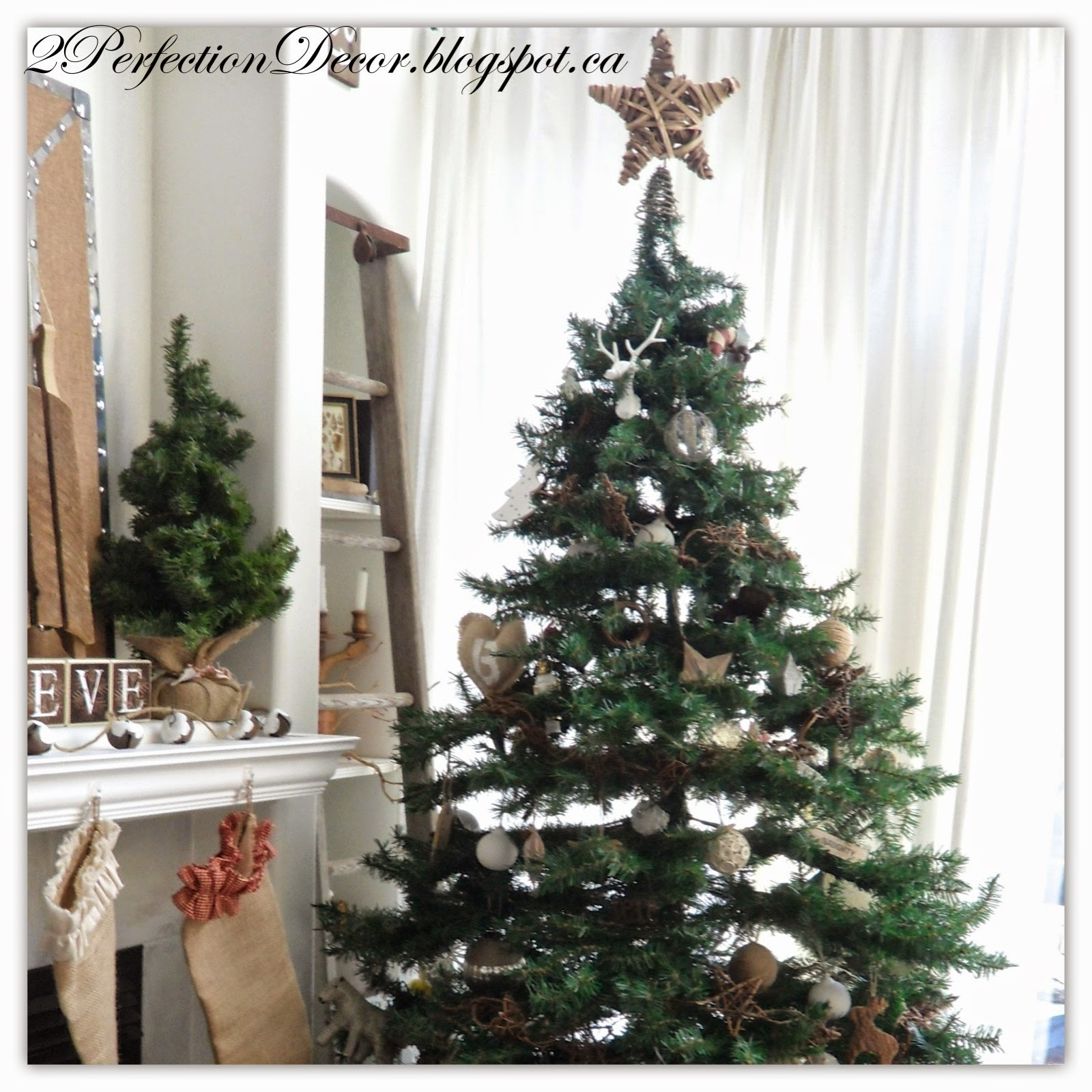 Country Christmas Mantels: 2Perfection Decor: Our French Country Christmas Tree