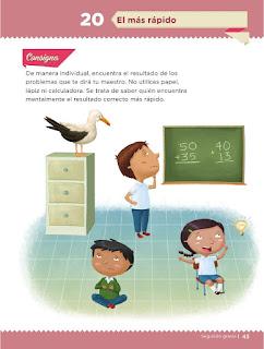 Apoyo Primaria Desafíos Matemáticos 2do Grado Bloque 2 Lección 20 El más rápido
