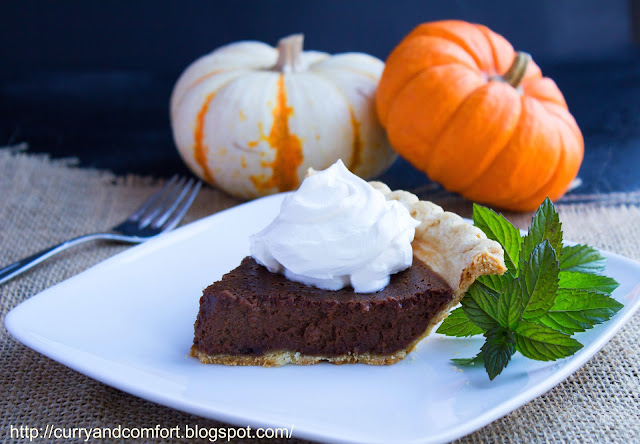 Kitchen Simmer: Chocolate Pumpkin Pie