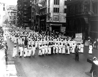 Silent protest parade in New York City