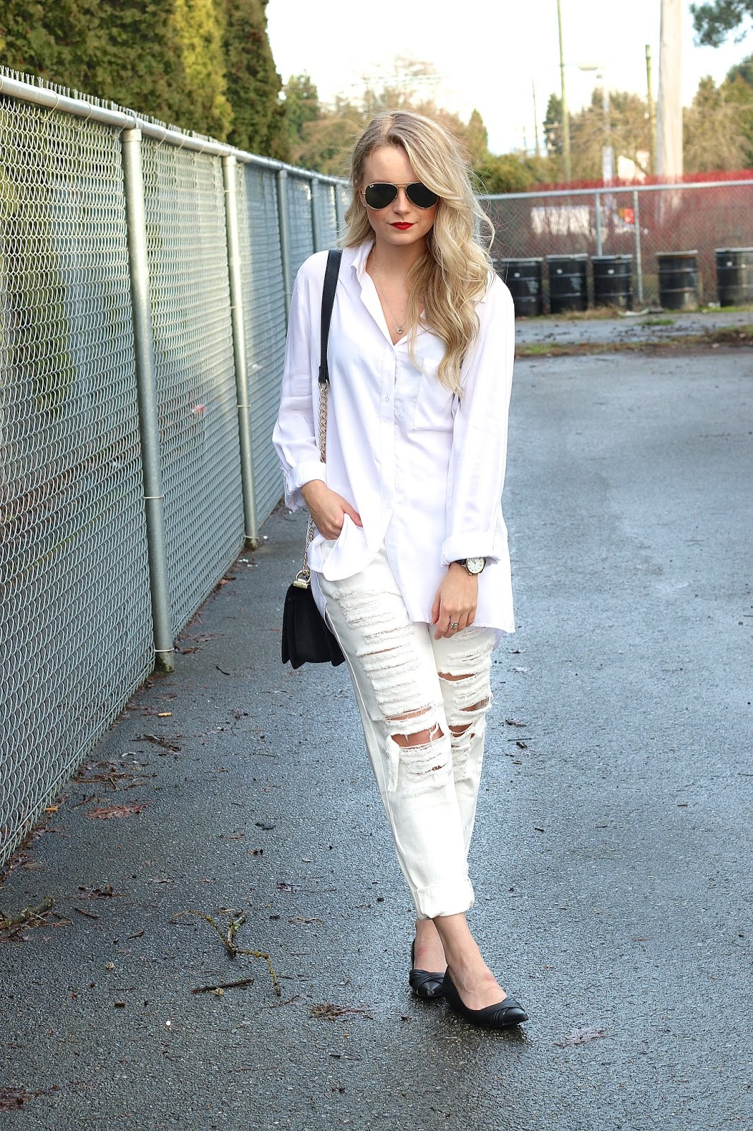 how to style an all white outfit