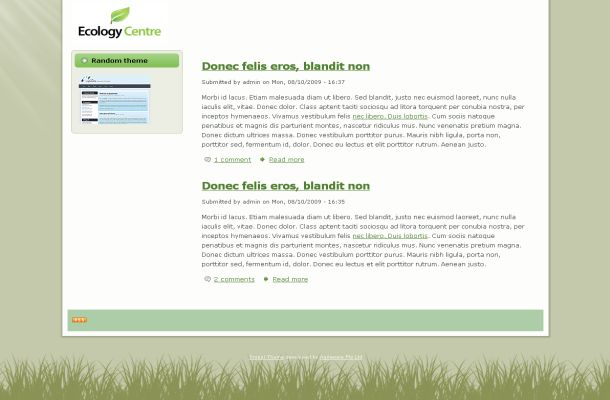 Free Drupal Green Ecology Theme Template