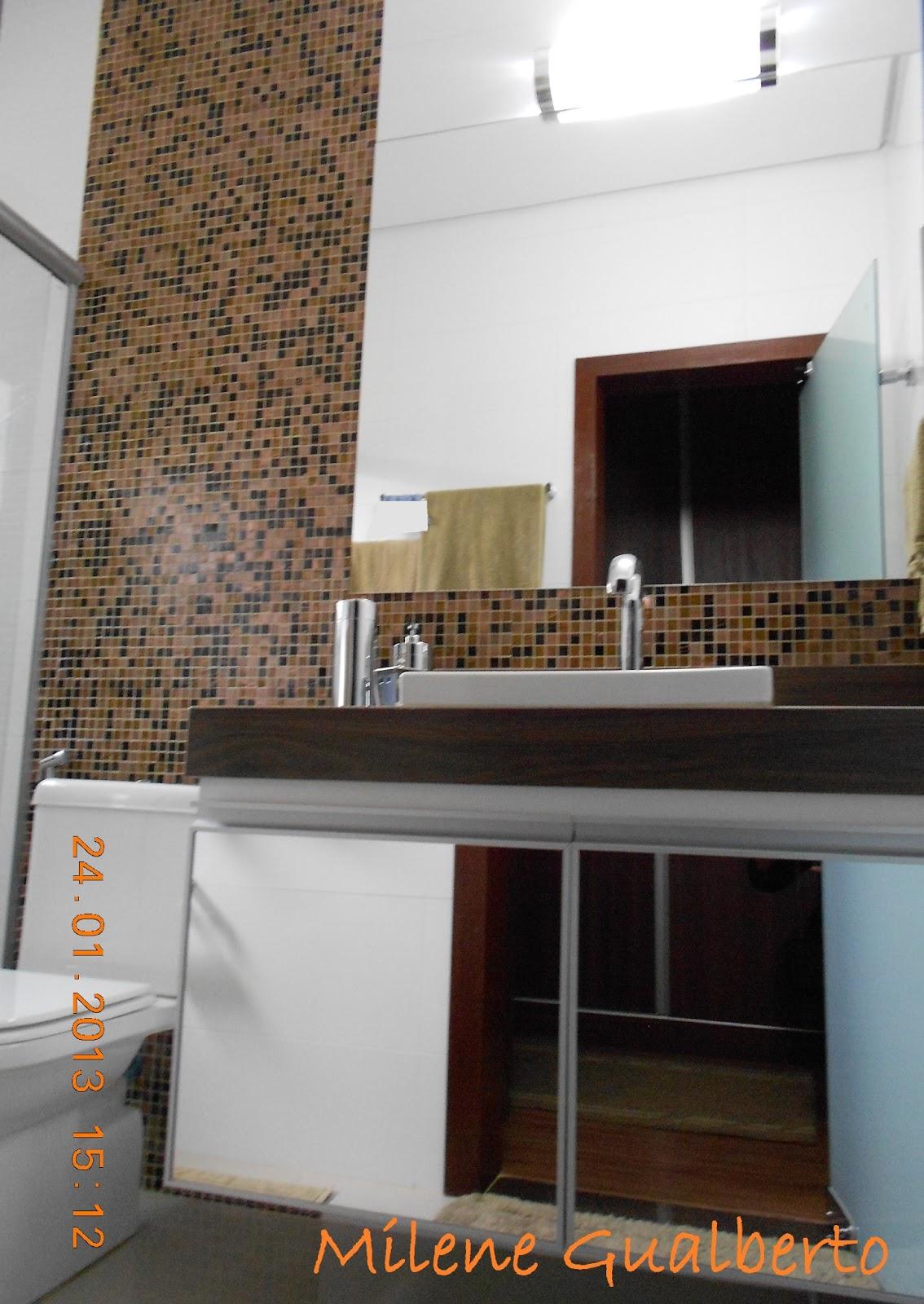 Banheiro Bancada porcelanato madeira  Milene Gualberto 05.jpg #A75C24 1134x1600 Banheiro Bancada Porcelanato