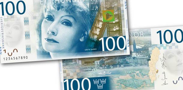 novas notas suecas - Greta Garbo