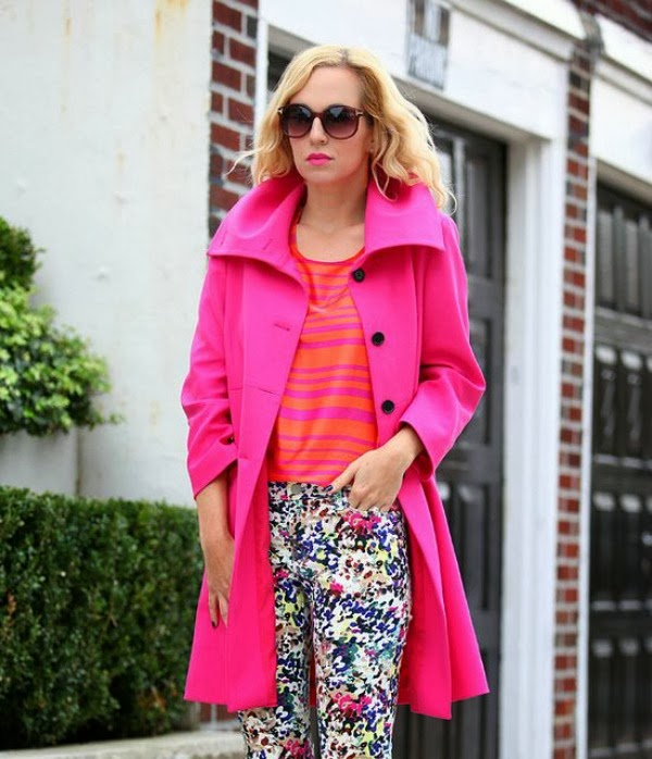 spring fashion, mixing prints