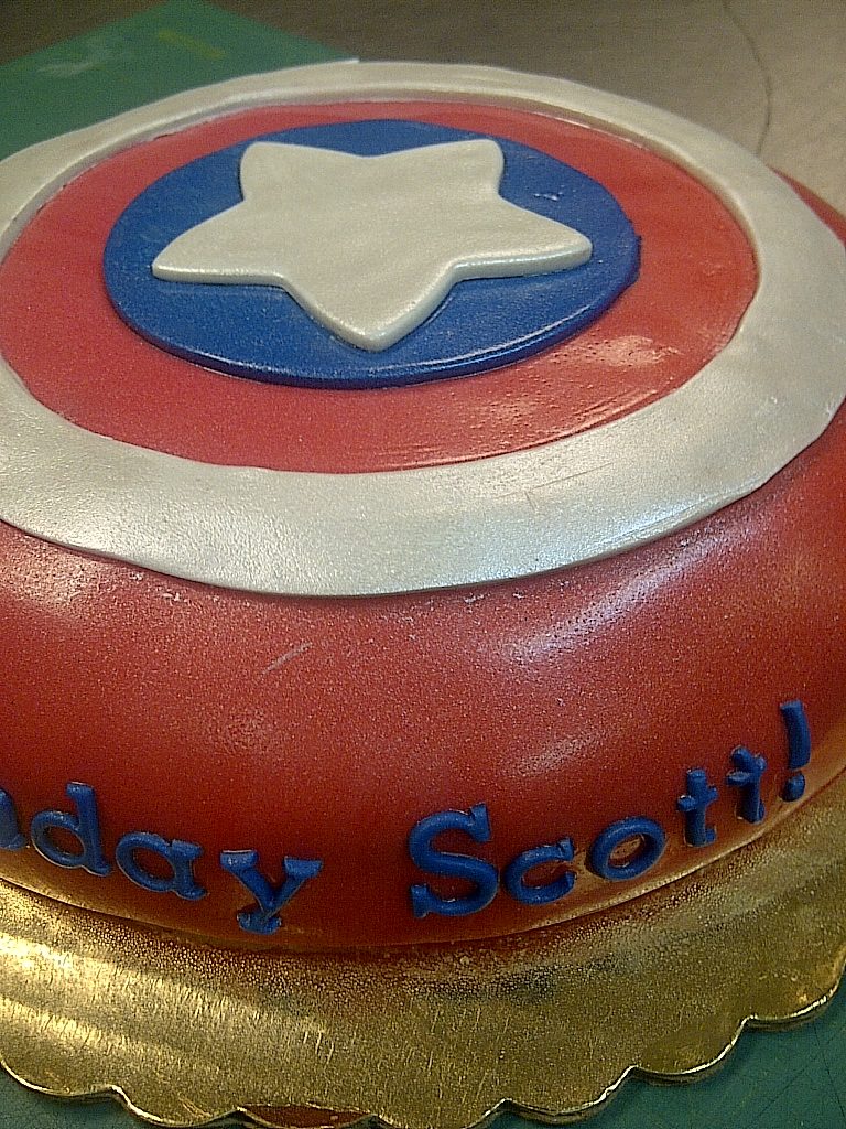 Cakes By Allie Captain America Shield Cake