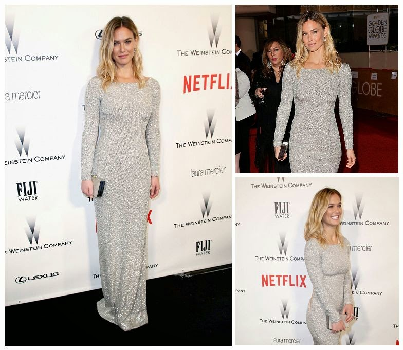 Though we're glad to see Bar Refaeli isn't letting it get in the way of enjoying the red carpet show.  May want to keep our face to dazed, the Supermodel came to getting people's attention on the 72nd Annual Golden Globe Awards at Los Angeles, CA, USA on Sunday, January 11, 2015.