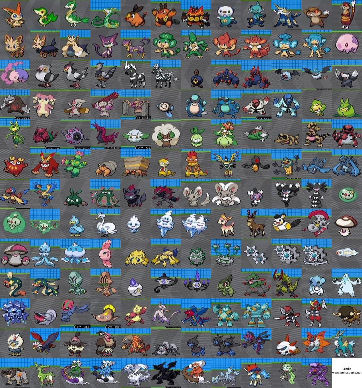 Fotos de todos los pokemon de teselia 45