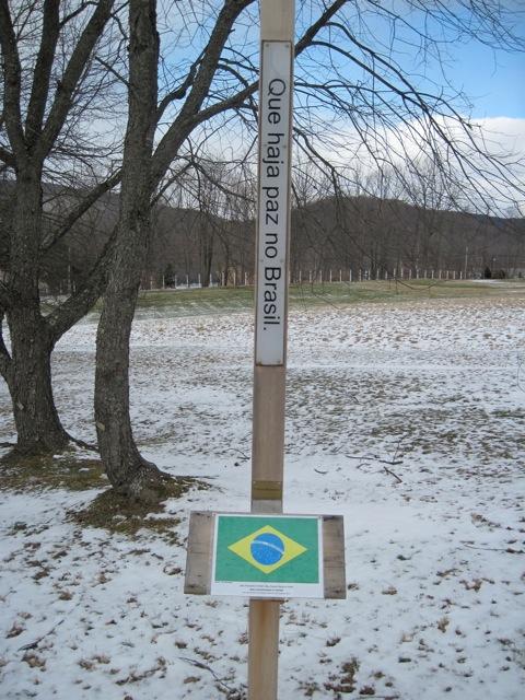 Mastro da Paz que representa o Brasil em New York