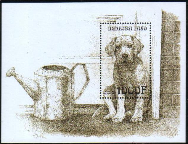 1999年ブルキナファソ ラブラドール・レトリーバーの子犬の切手シート