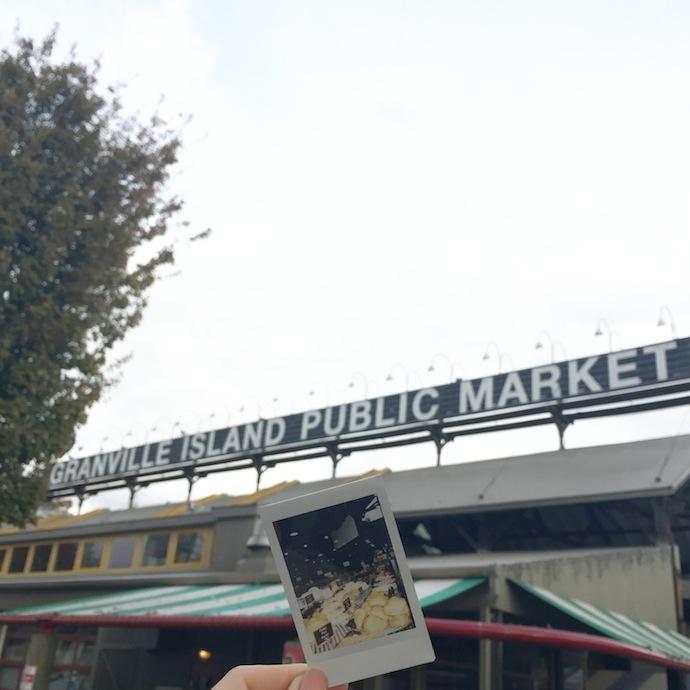 Bench Canada Polaroid Project Vancouver Granville Island Public Market