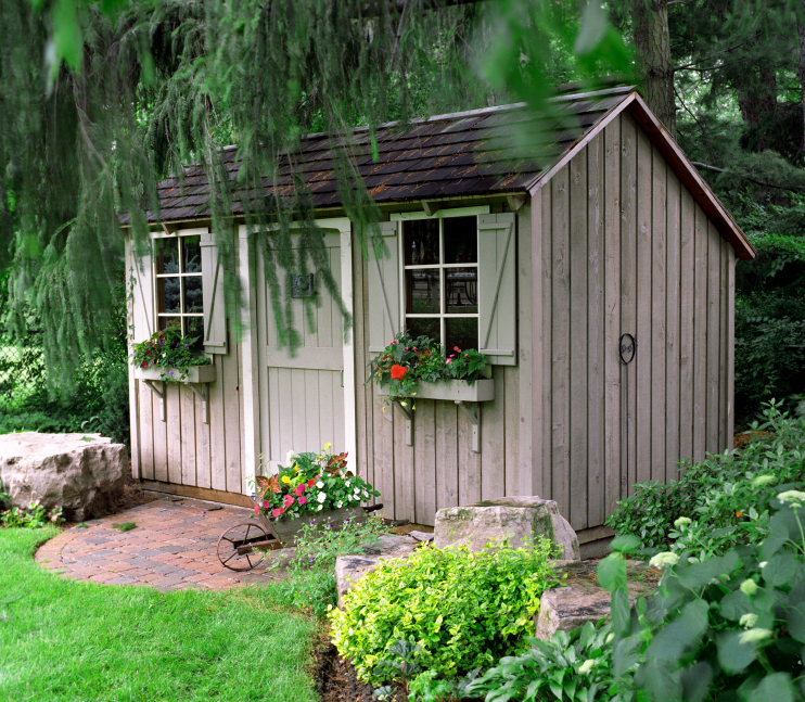 Faith and pearl what makes a garden shed a shed for Garden shed 10x10