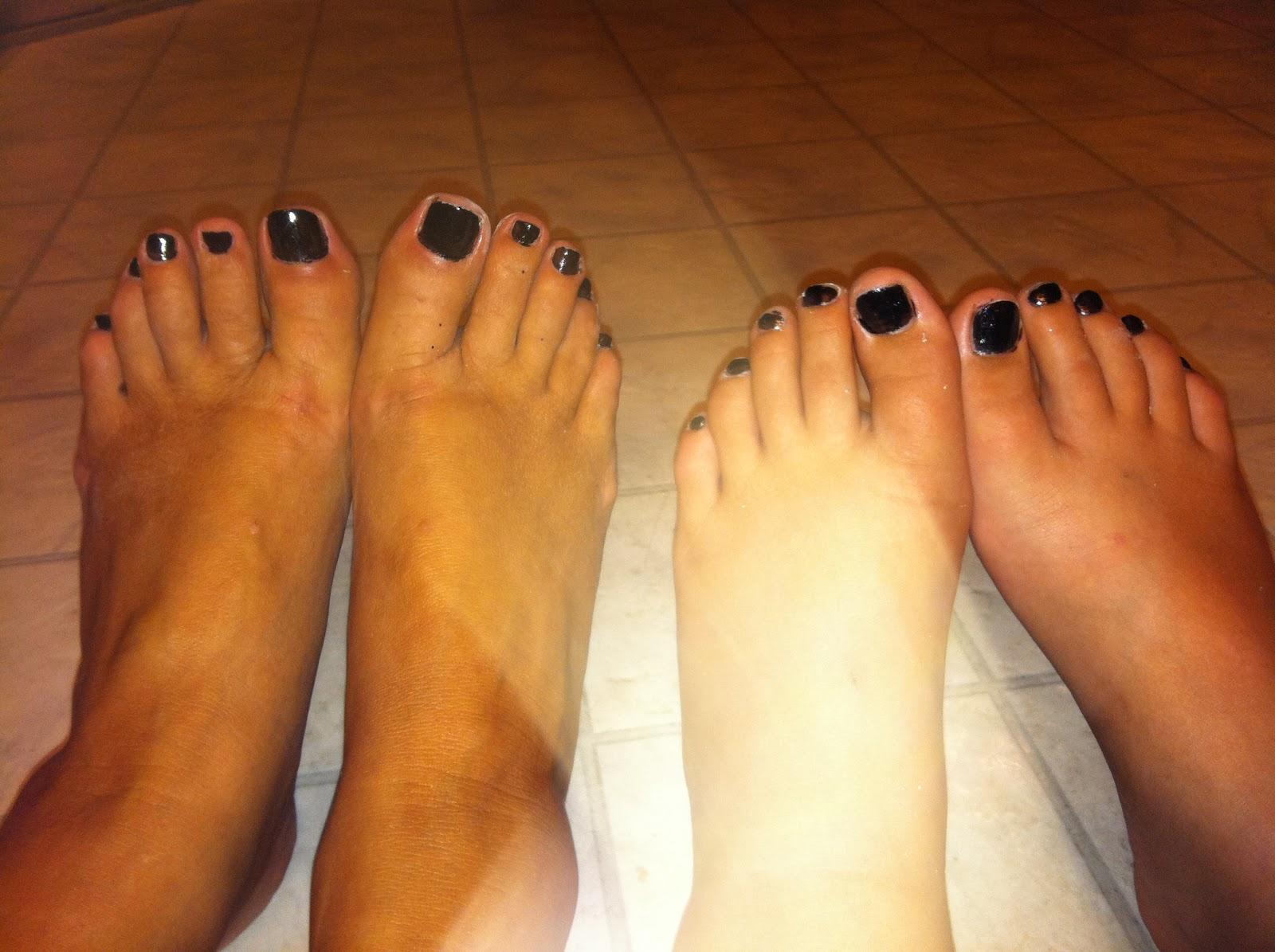 The Black Toenail Polish