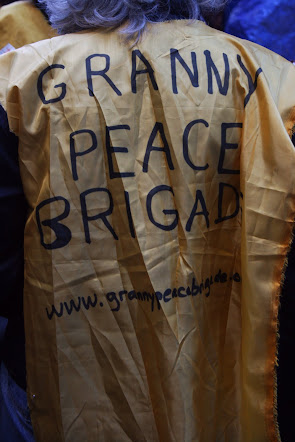 Granny Peace Brigade protester at Occupy Wall Street