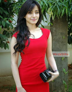 Neha Sharma in Red Gown Lovely Innocent Bollywood Beauty Spicy Eyes