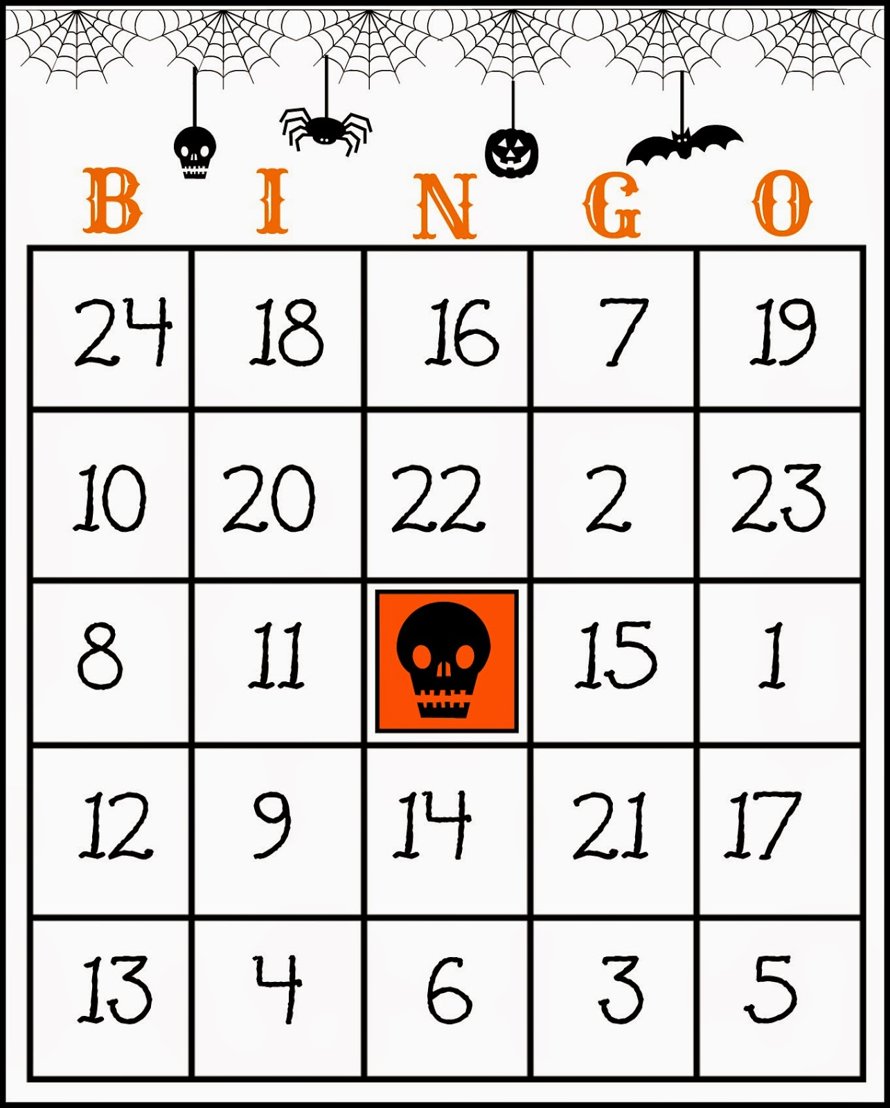 It is a photo of Crafty 25 Printable Halloween Bingo Cards