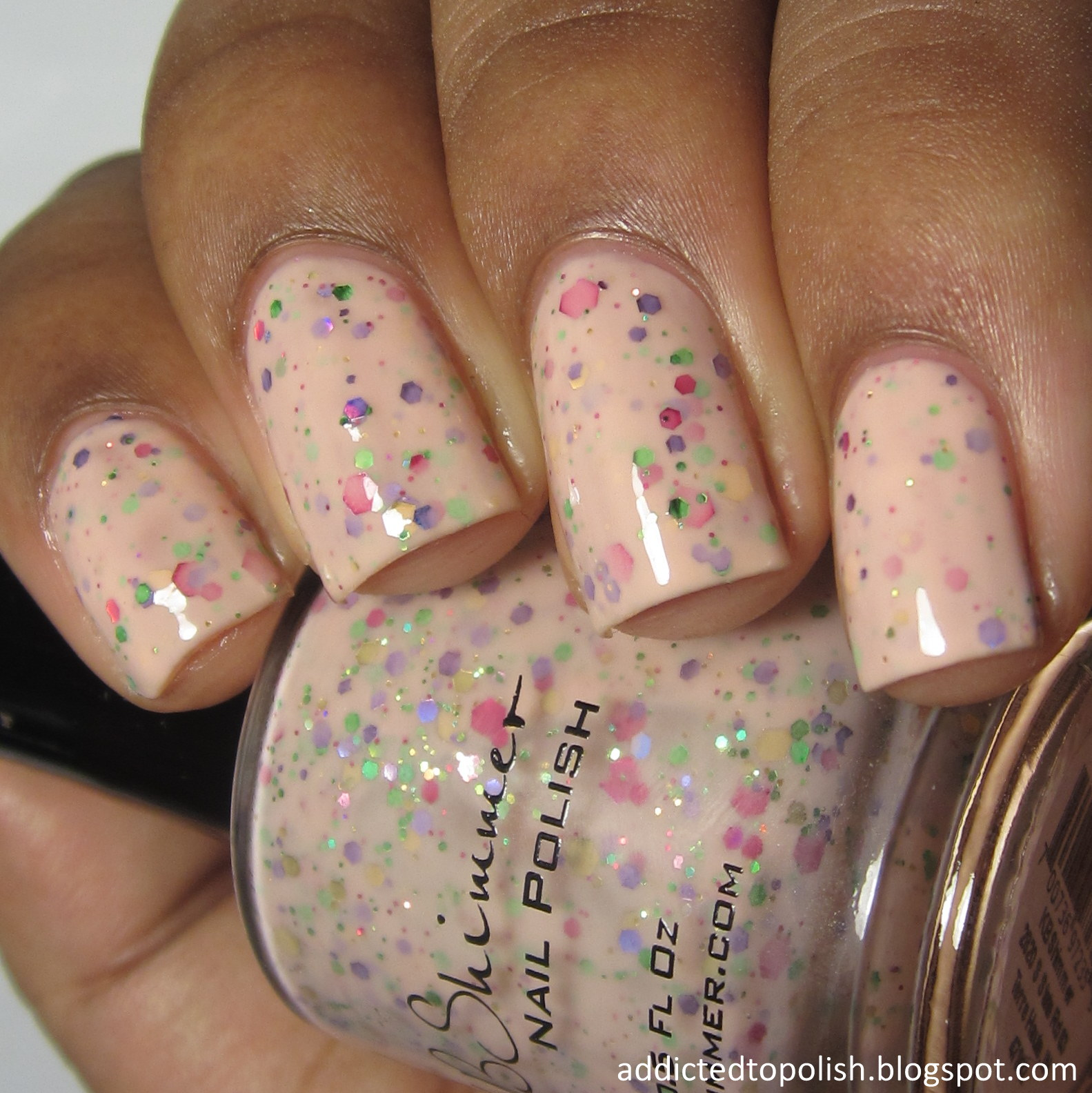 KBShimmer To Peach His Own Spring 2015 nude glitter