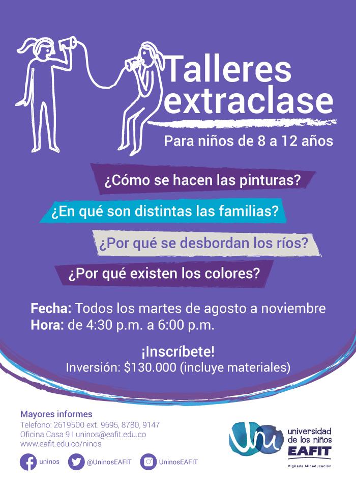 Talleres Extraclase en Universidad EAFIT   Actividades para niños en ...