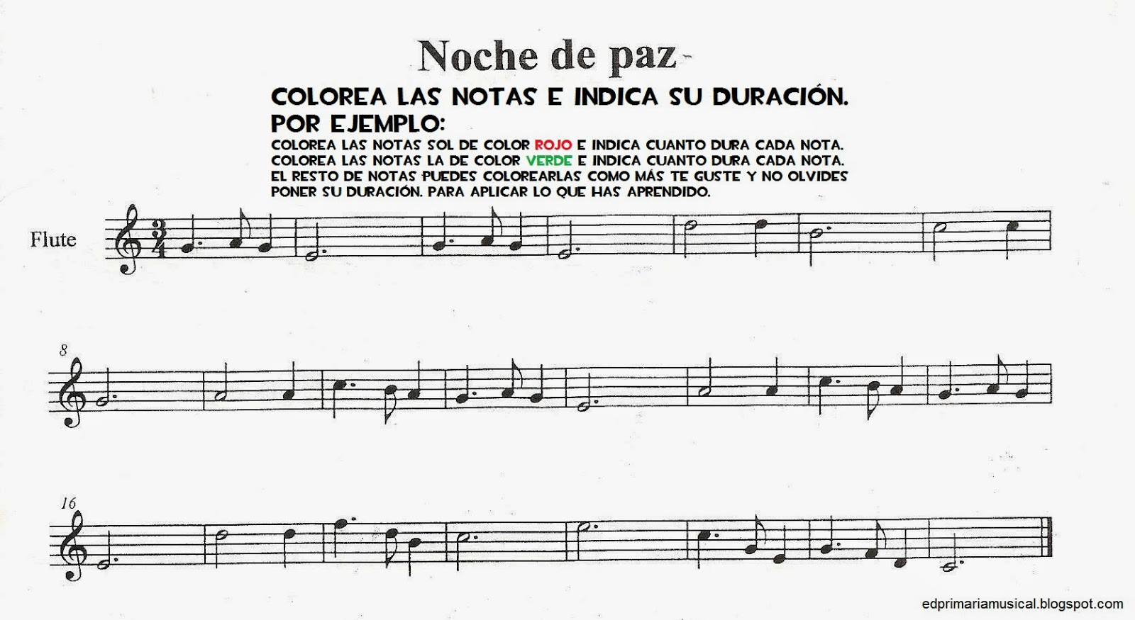 Música para Primaria: Actividades para imprimir