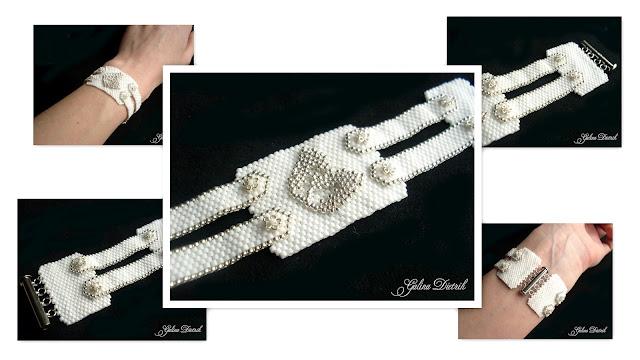 Коллаж Белый браслет из бисера Форма и содержание