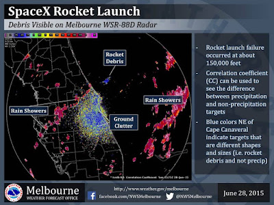 SpaceX Falcon 9 Rocket Debris Field Map