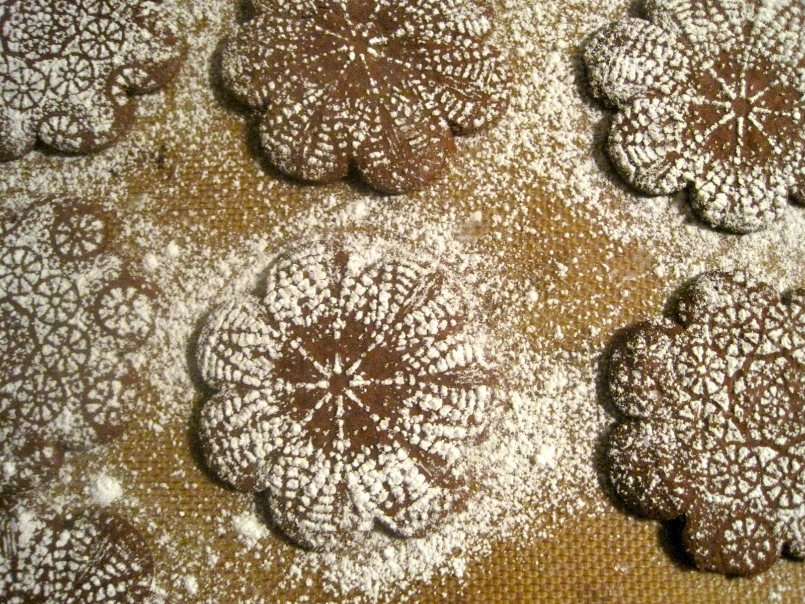 Snowflake Cutout Cookies Chocolate snowflake cookies