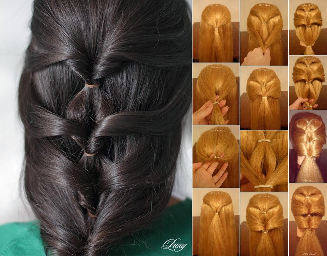 Прически на каждый день  видео для длинных волос на каждый день
