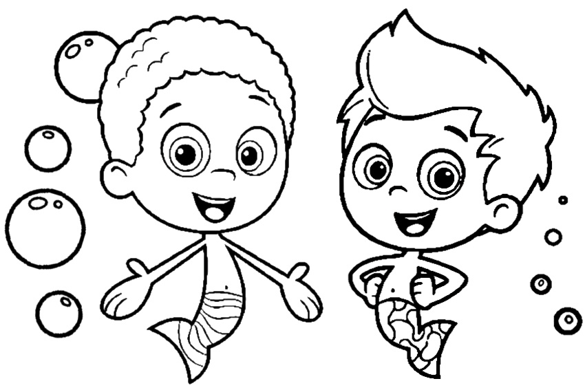 Magic image throughout bubble guppies printable