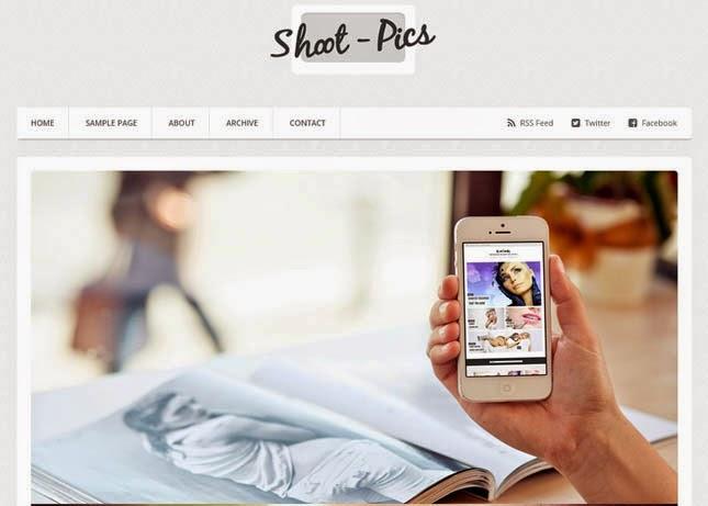 ShootPics Responsive Blogger Template