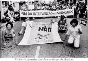 Mulheres em luta por liberdade sindical