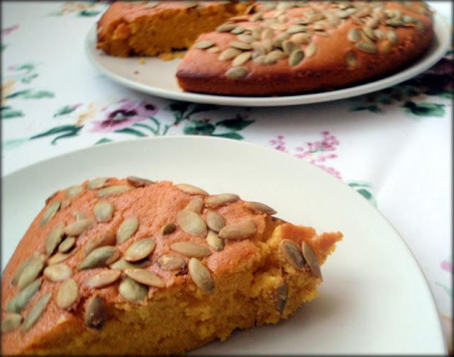 przepis na ciasto dyniowe, ciasto z dyni, ciasto z dynią