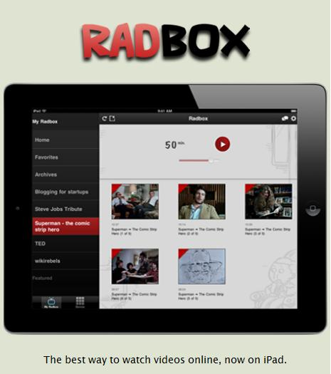 Radbox bookmark online videos from any site