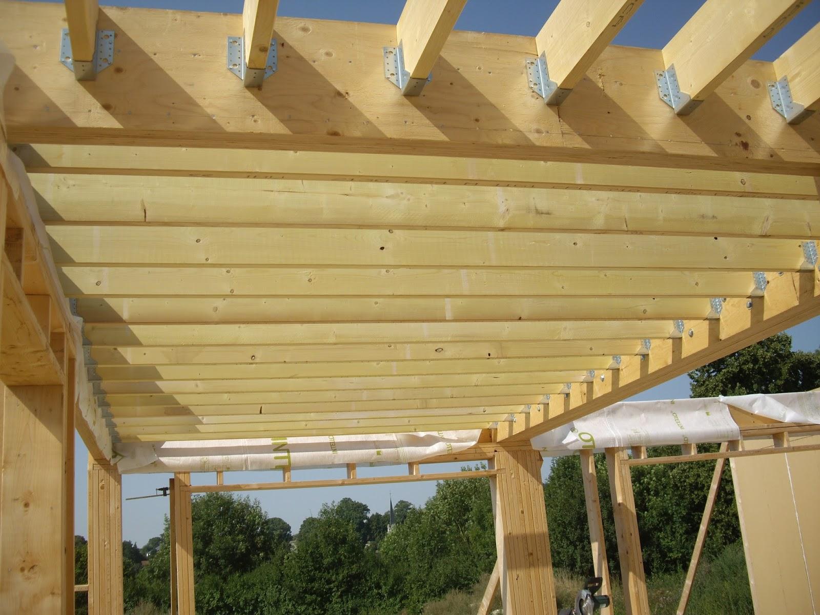 Notre auto construction passive maison ossature bois m o b ossature bois jour 21 for Construction bois 21