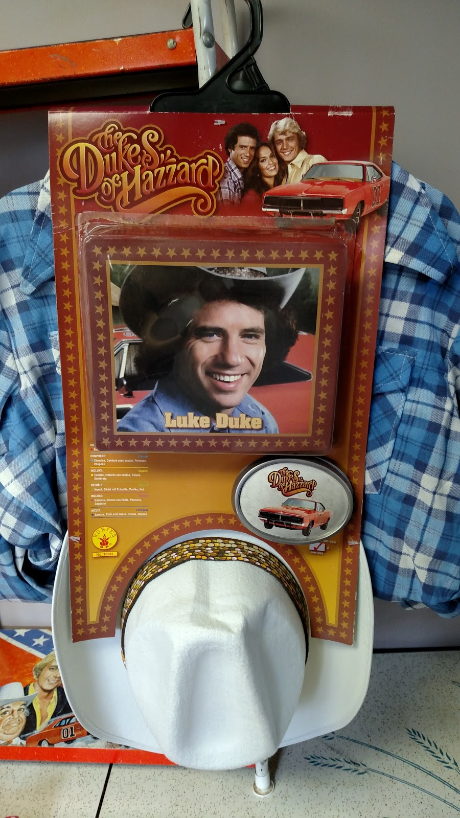in the dawn of the modern era of dukes of hazzard 2005 rubies released three dukes costumes bo luke and daisy they came packaged on a hanger and