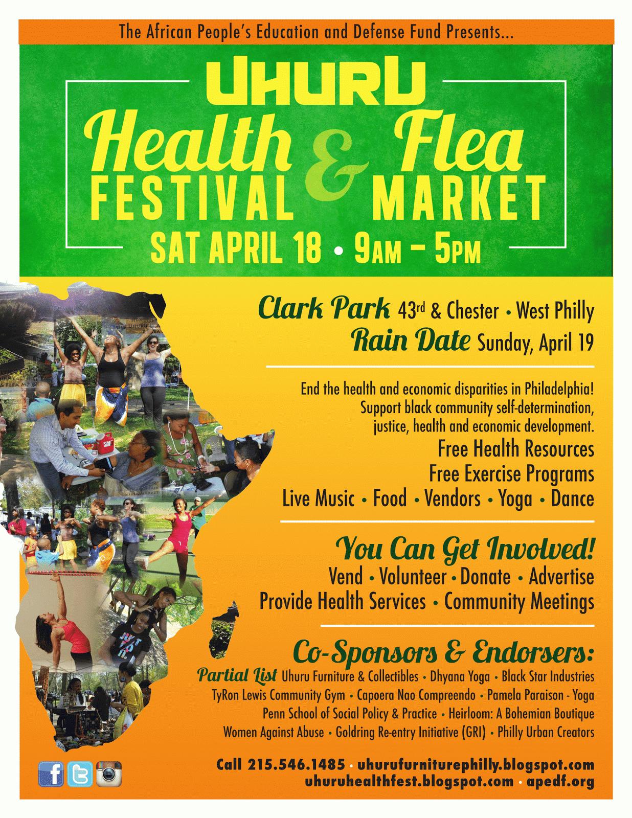 2015 Uhuru Health Festival & Flea Market!