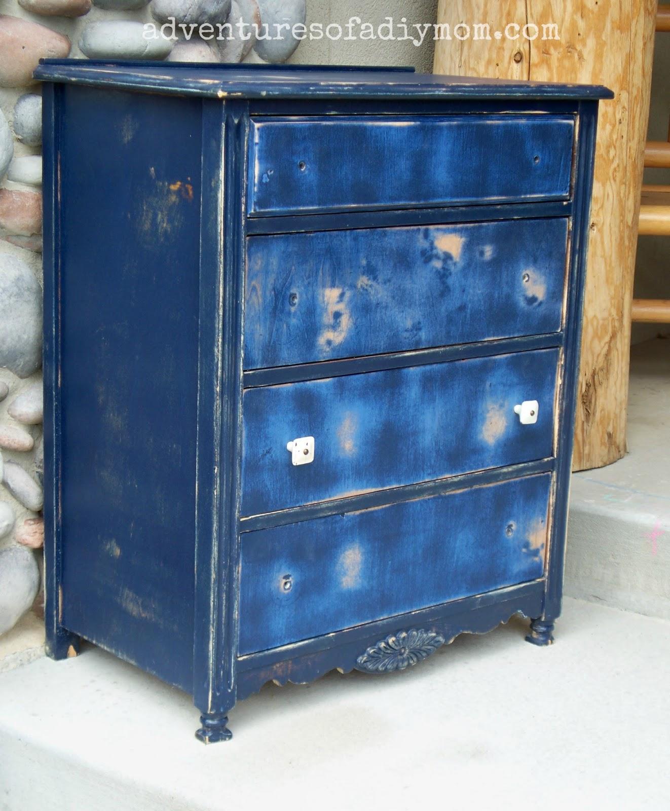 Blue Distressed Dresser