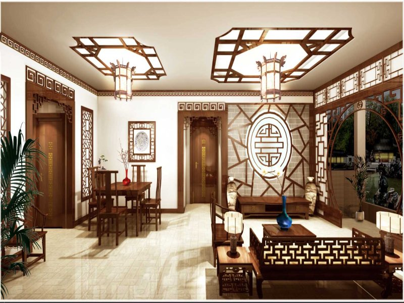 Modern house architecture Typical Oriental Style Interior