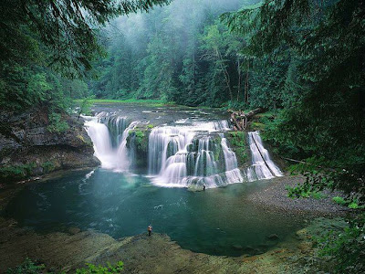 Lower Lewis River Waterfalls Washington United States