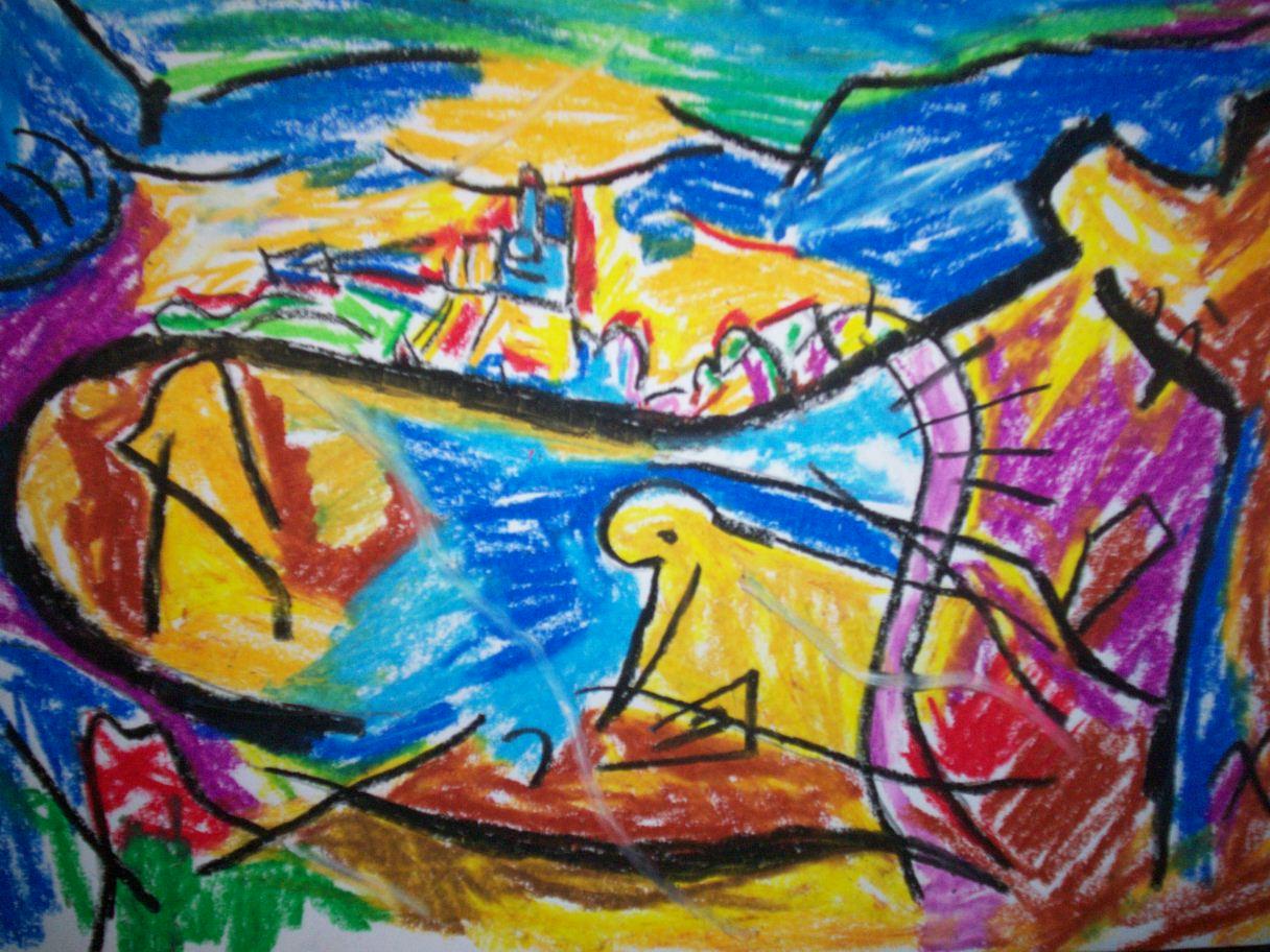 Arte en la escuela intervenciones artisticas colectivo for Arte colectivo mural