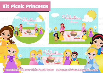 kit picnic princesas